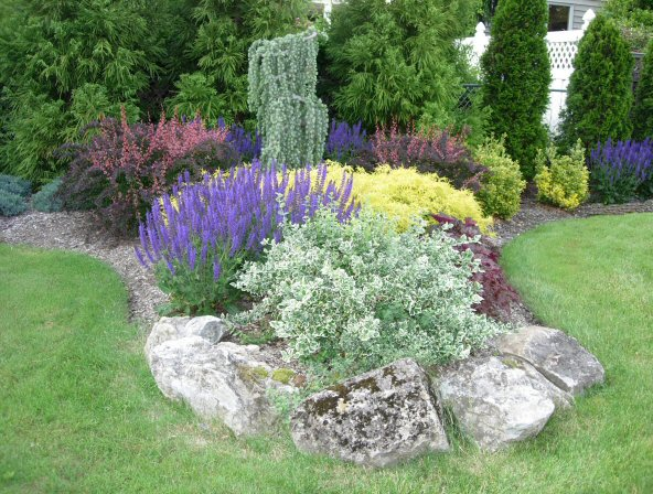 Simple Backyard Flower Gardens : Backyard Garden Design