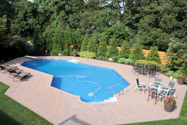 Landscape design by lee long island ny before after for Pool design show